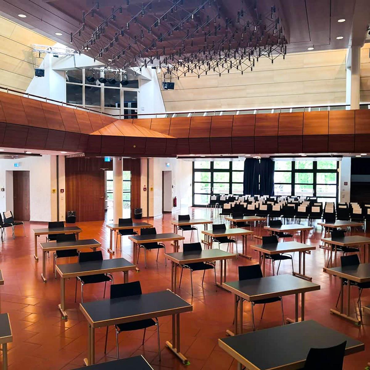 Der Saal in Eching bei München