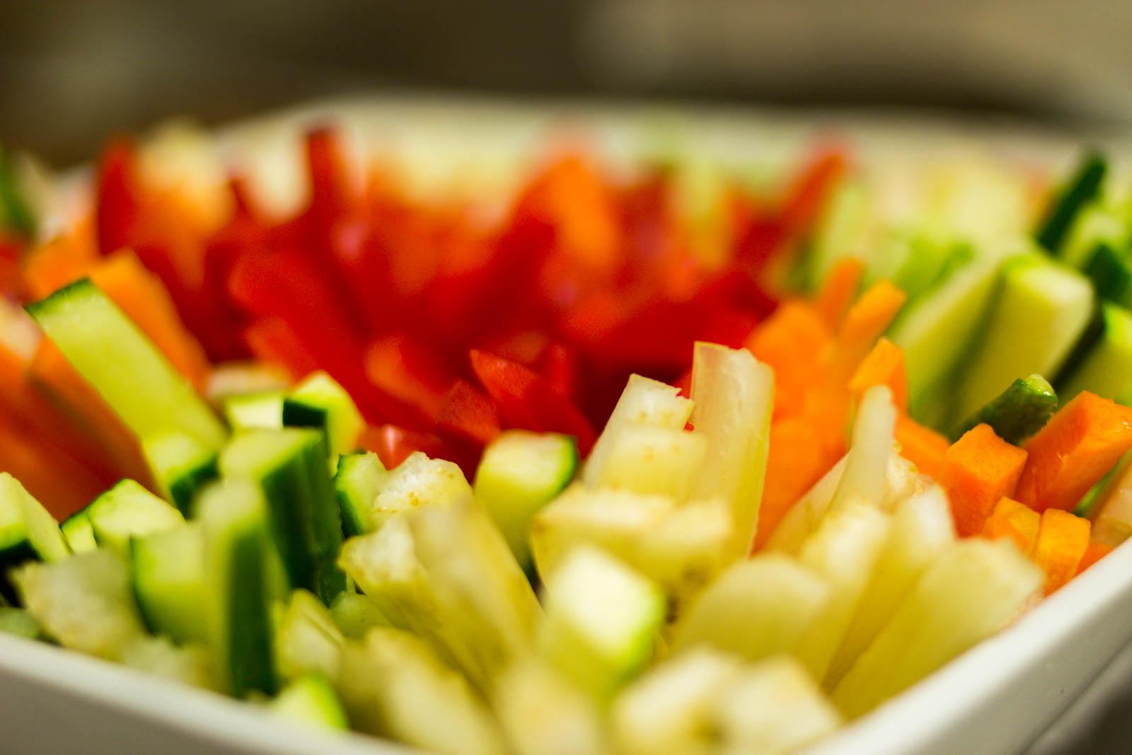frisches Gemüse für den Lieferservice