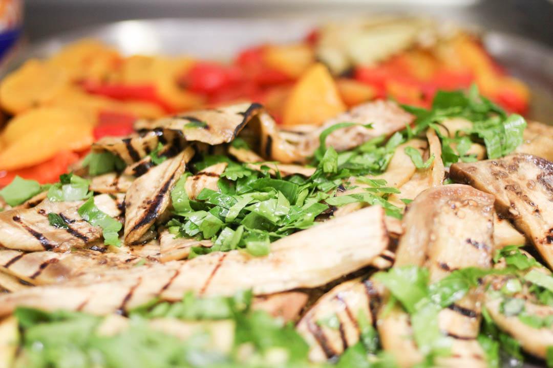 frisches Gemüse zum Grillevent
