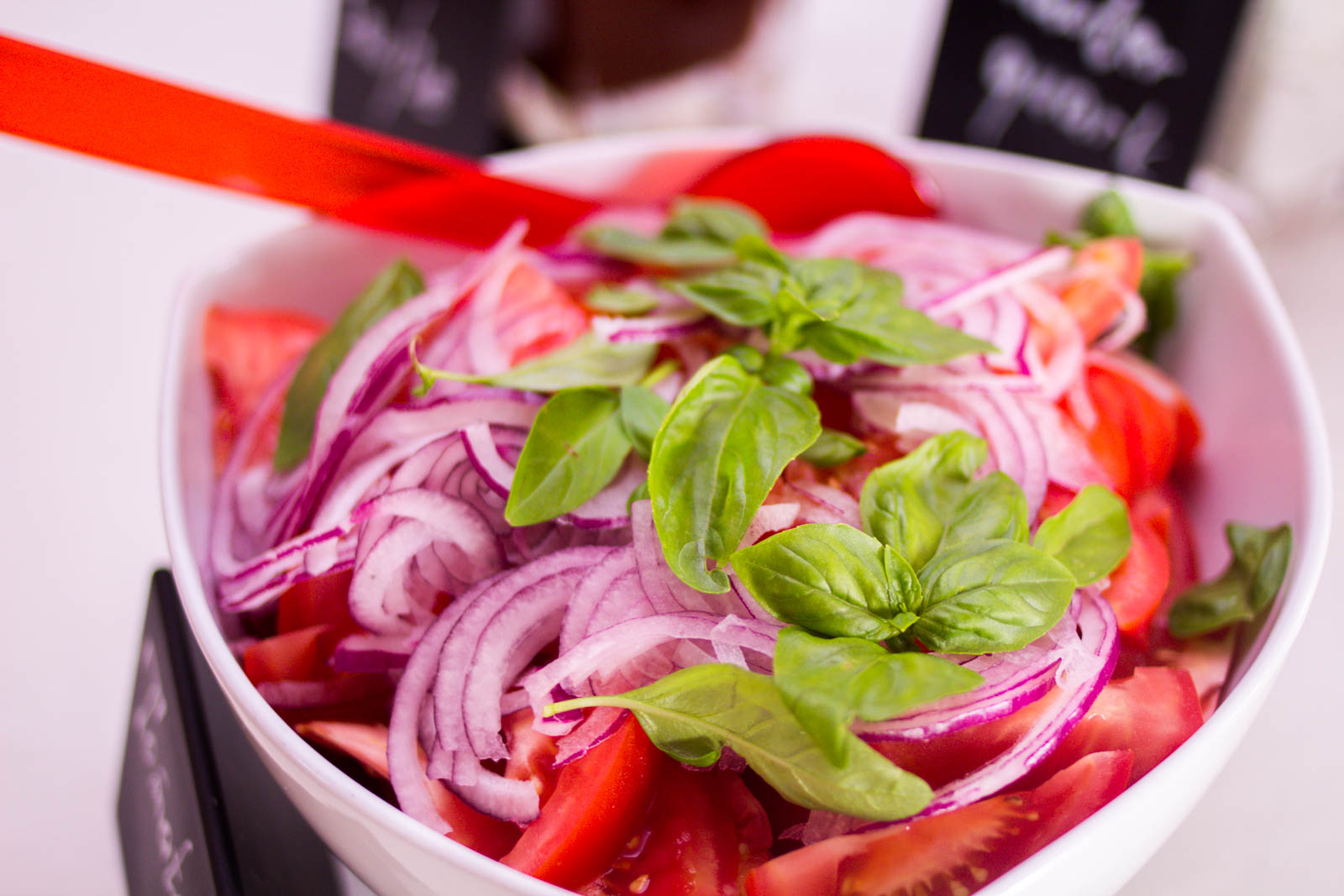 frische Salate für das Catering