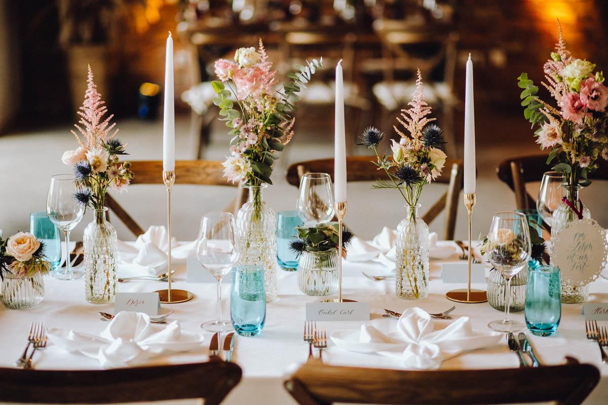 Die Hochzeitsfarbe ist Pastell