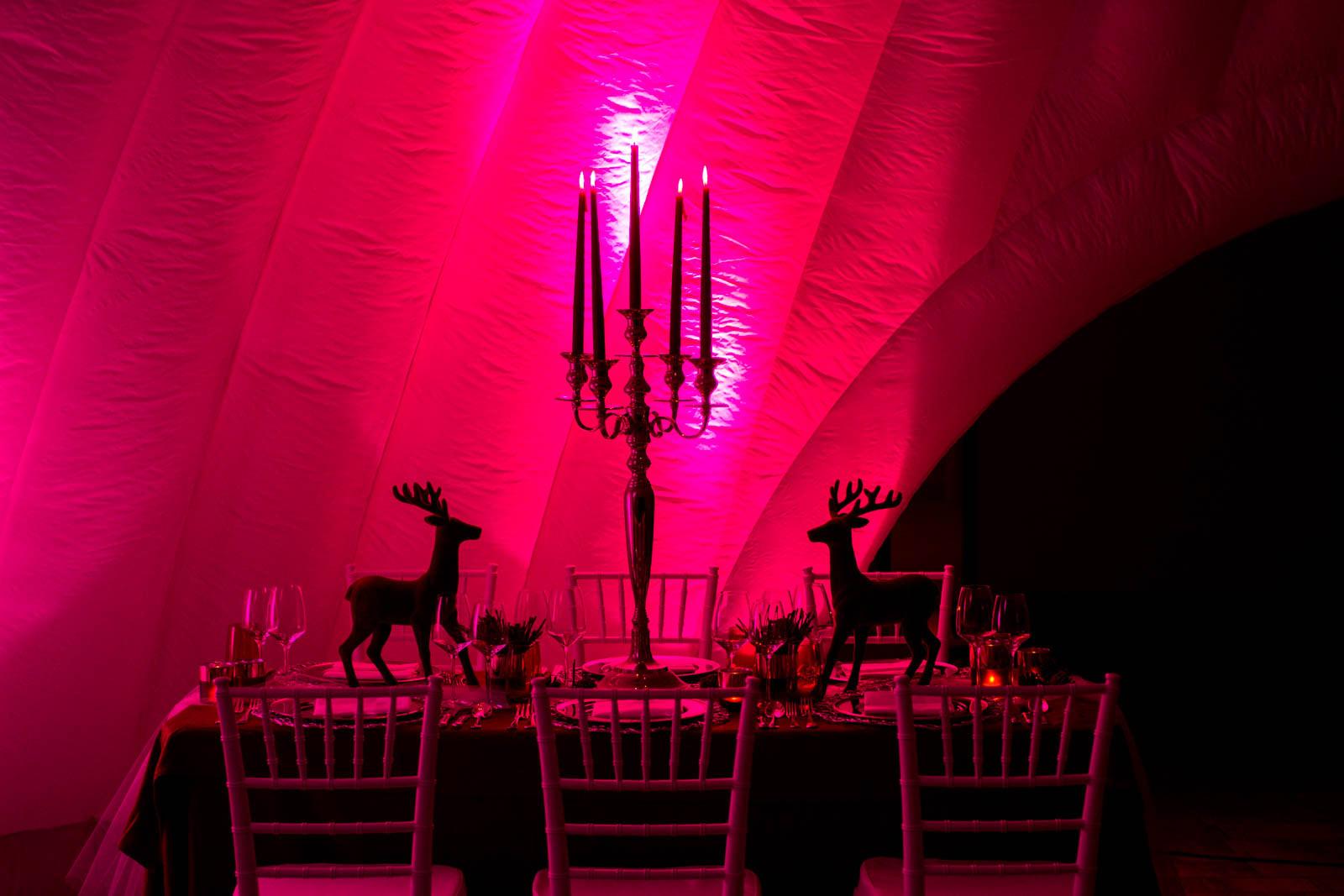 Dome Zelte für die Outdoor Weihnachtsfeier