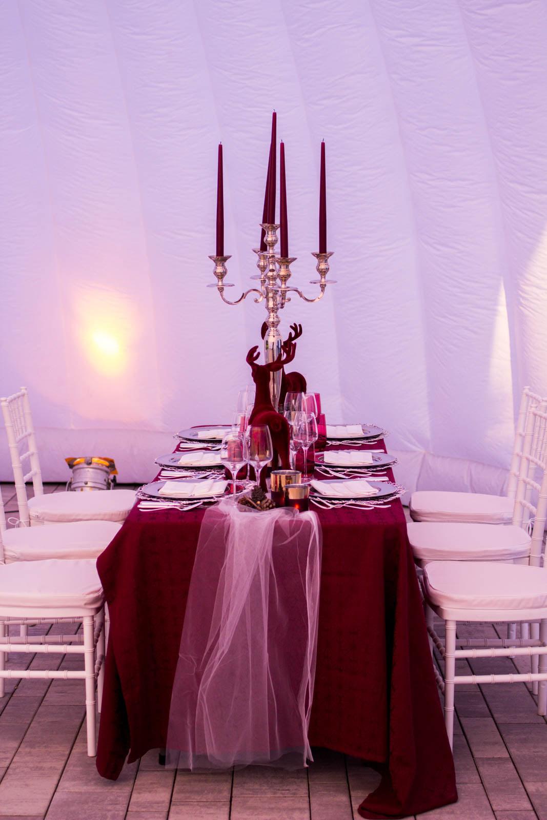 Weihnachtsfeier im Zelt oder Dome