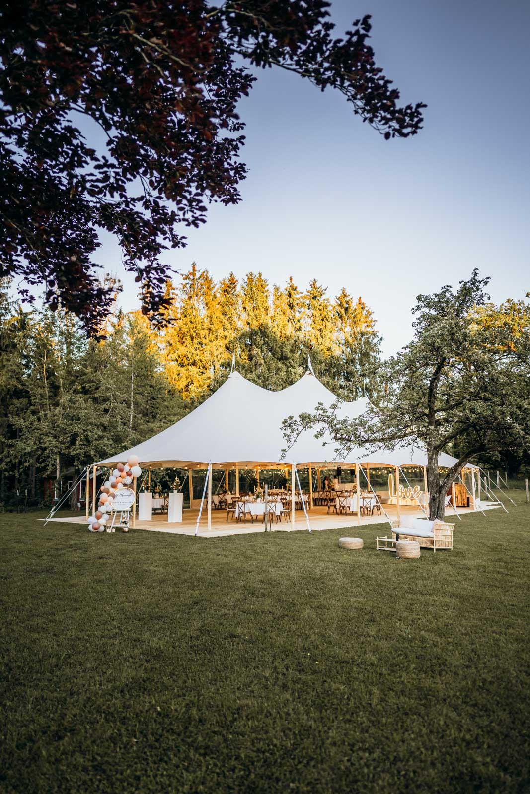 Hochzeitslocation für Outdoor-Hochzeit